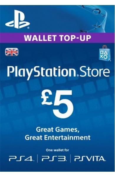 5 GBP PSN Card (UK)