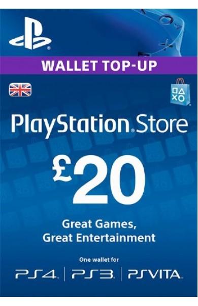 20 GBP PSN Card (UK)