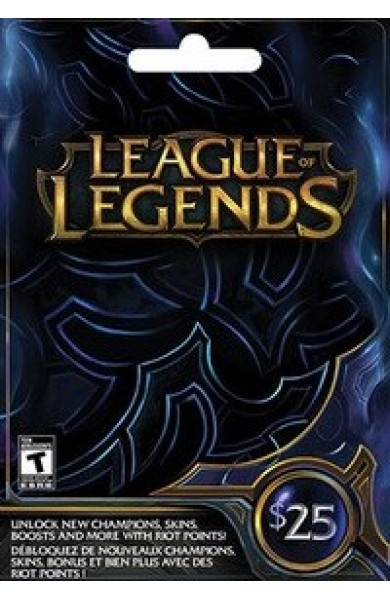 League of Legends RP Card (NA) 25 $