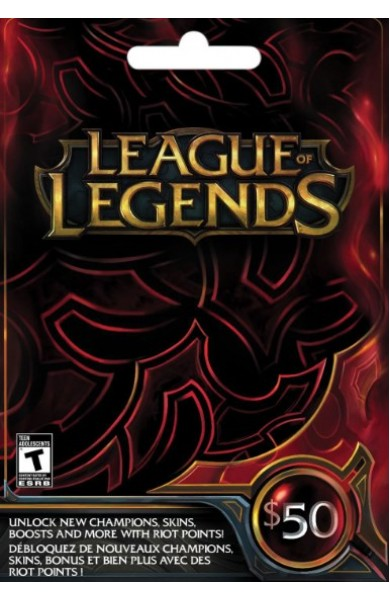 League of Legends RP Card (NA) 50 $