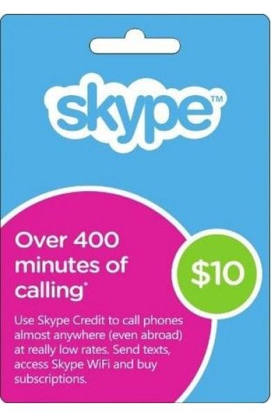 Skype Gift Card $10