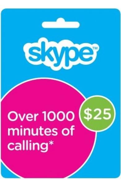 Skype Gift Card $25