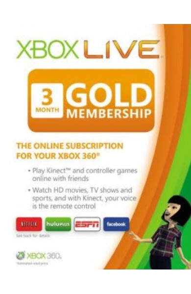 Xbox Live 3 Months Gold